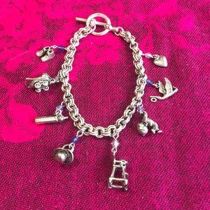 Silver Baby Themed Charm Bracelet.